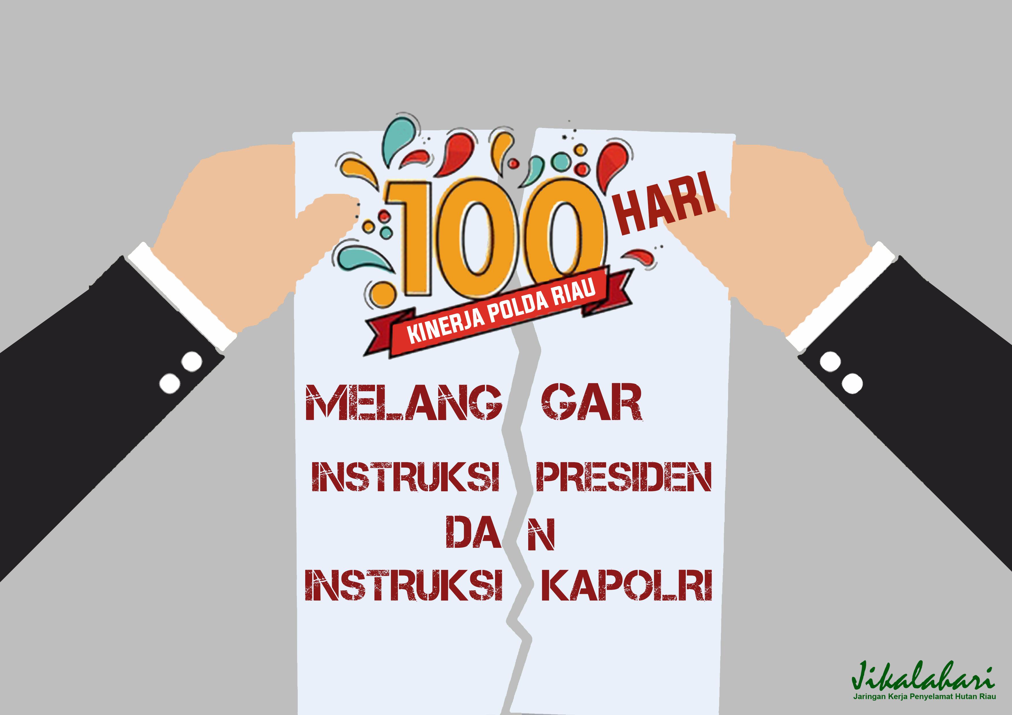 100 Hari Kinerja Polda Riau: Melanggar IInstruksi Presiden dan Instruksi Kapolri